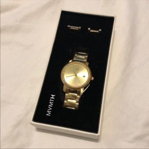MVMT Gold Watch NWT Never Used
